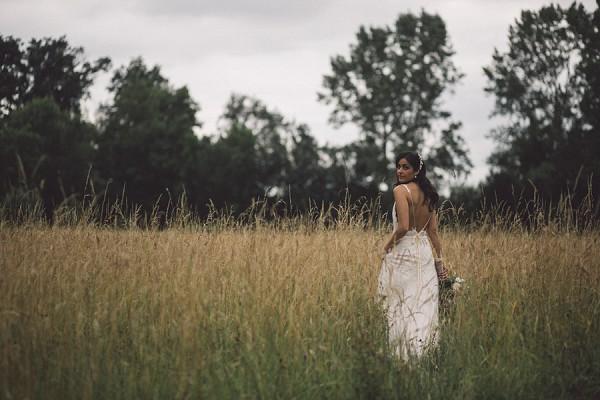 countryside wedding portraits