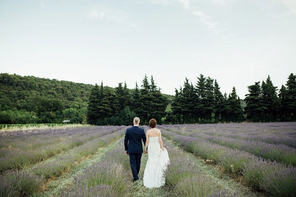 lavender field wedding day