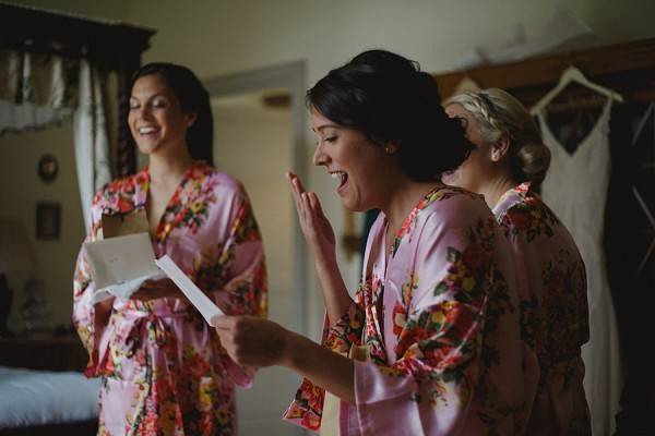 pink floral wedding dressing gown