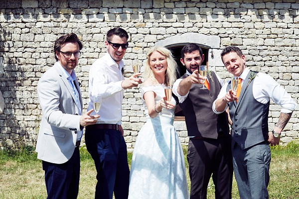 relaxed bridal party group shots