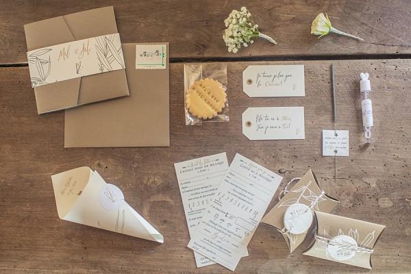 rustic wedding Invite suite
