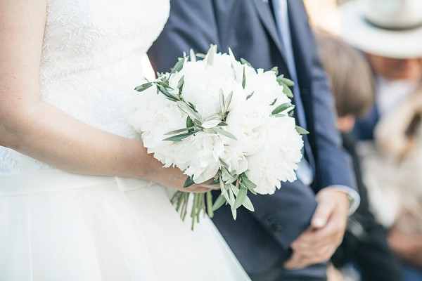 white and olive tree bouquet