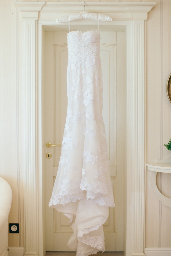 Beautiful Lace Gown Strapless