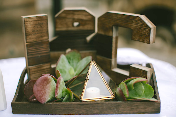 Wooden wedding letters Brant Smith Photography