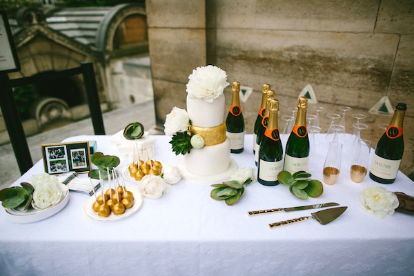 Paris wedding cake table Brant Smith Photography 5