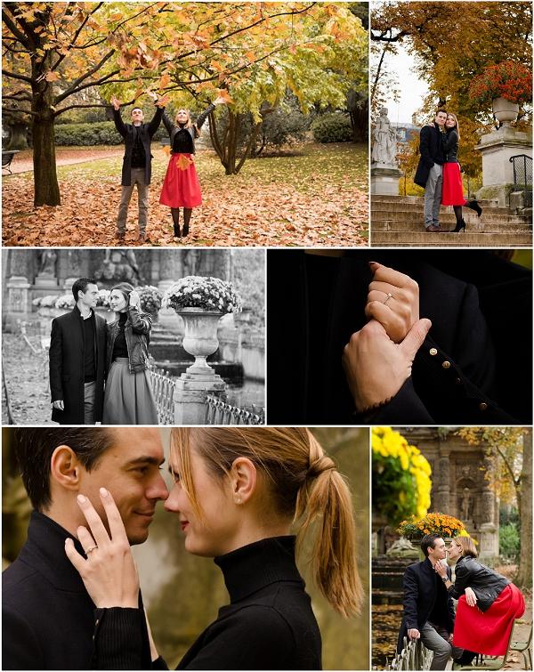 Engagement Photoshoot at Jardin du Luxembourg Snapshot, Image by Shantha Delaunay
