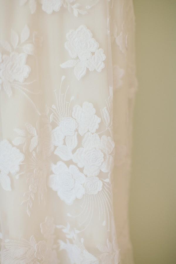 Lace floral wedding dress
