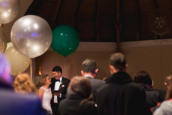 Large balloons wedding ceremony