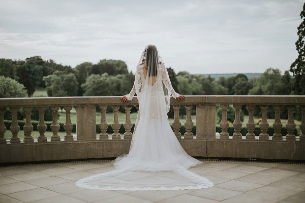 Long Lace Edged Veil