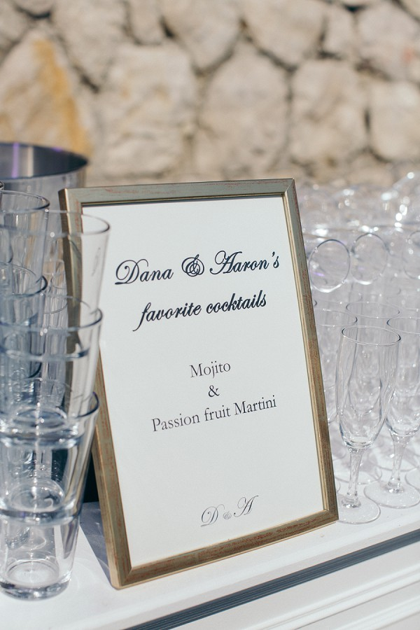 Personalised wedding cocktail