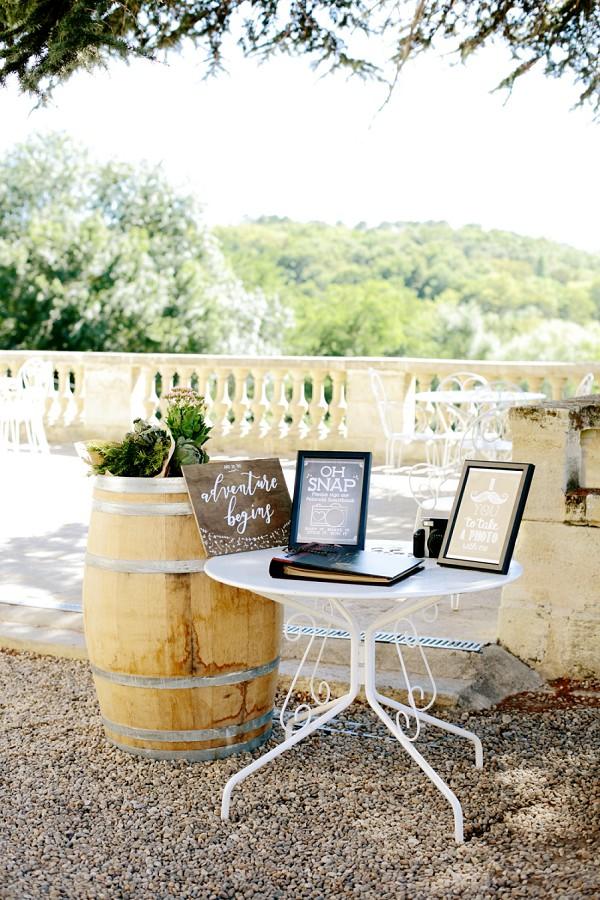 Polaroid Wedding Table
