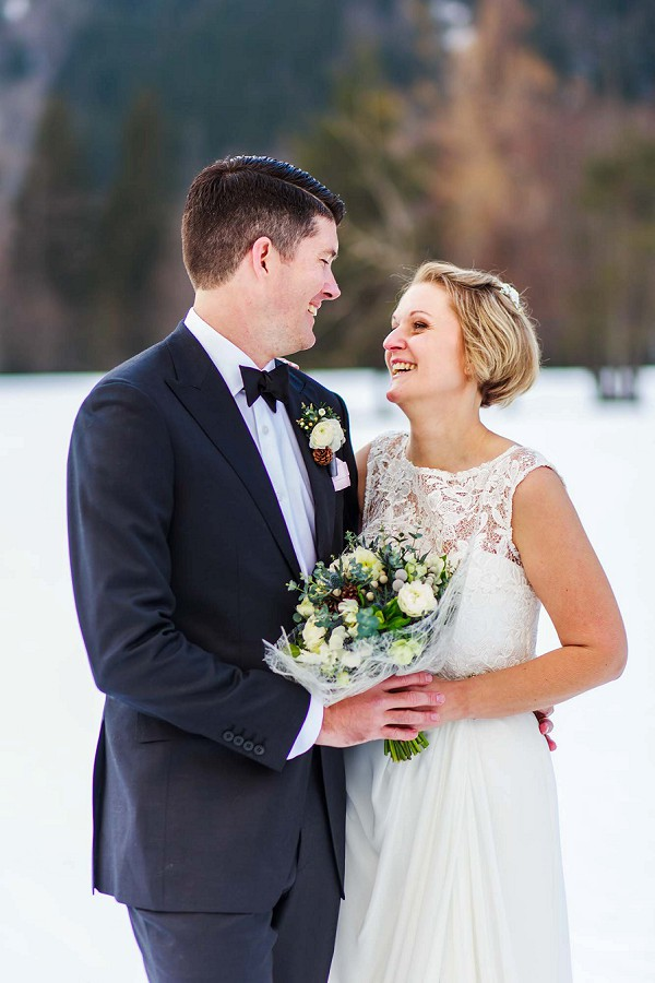 Romantic winter wedding France