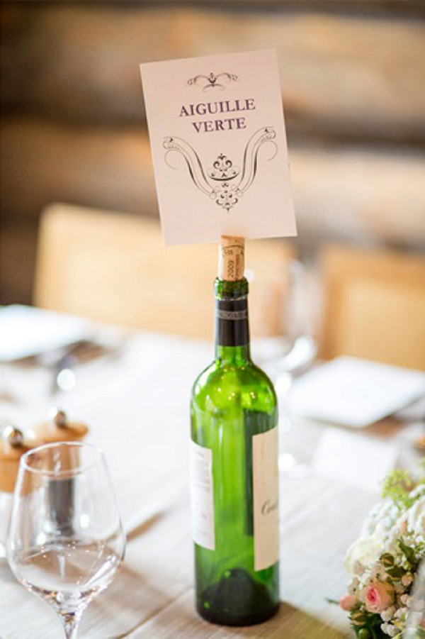 Simple wine bottle table names