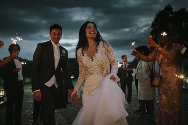 Sparkler Exit French Wedding