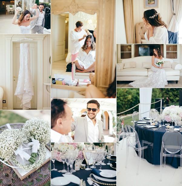 Stylish French Riviera Garden Wedding Snapshot