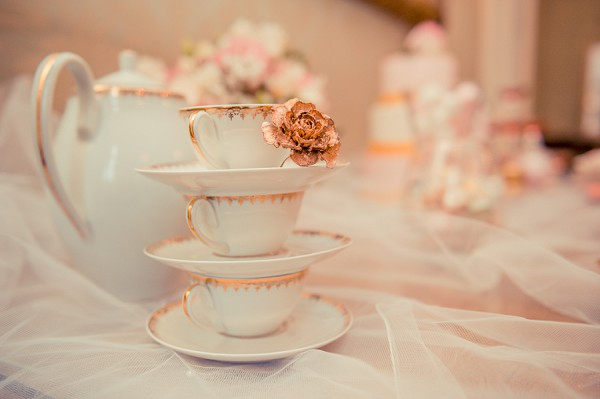 Tea cup wedding reception