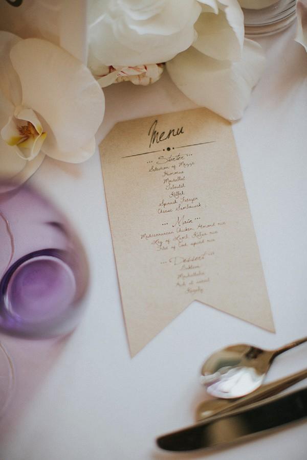 Traditional French Wedding Menu