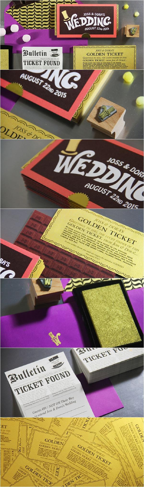 Wonka Wedding Stationery by Creative Wedding Stationery company Belleink