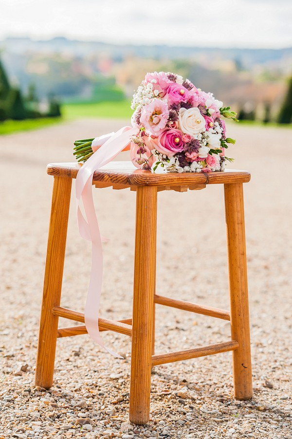 pink rose wedding flowers