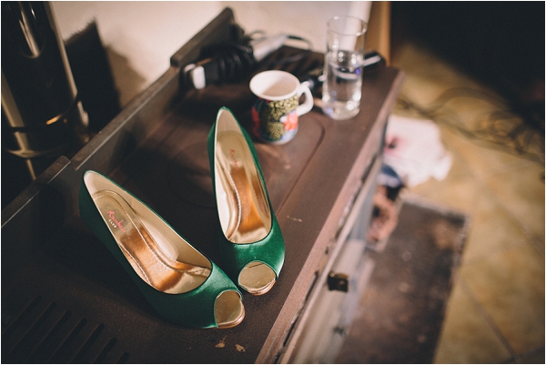 rainbow club green bridal shoes, image by Blondie Photography