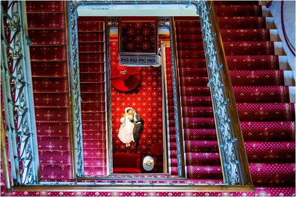 stunning wedding staircase Photographer Gabriele Basilico