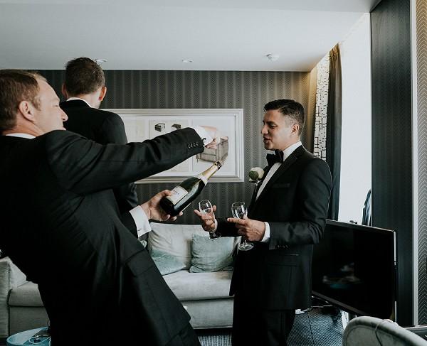 Black Tie City Wedding