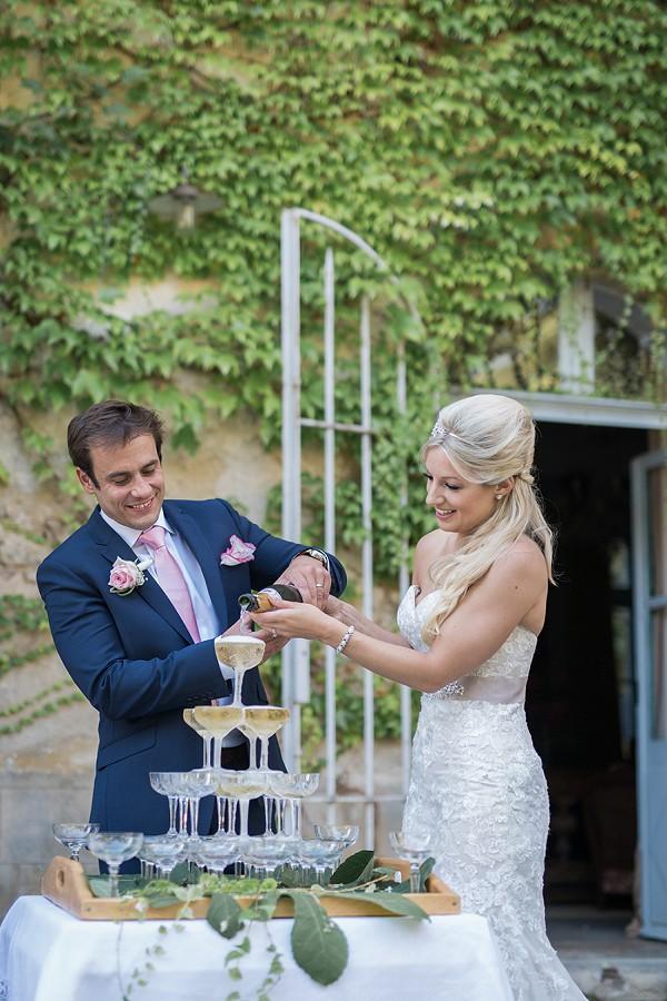 Champagne wedding tower