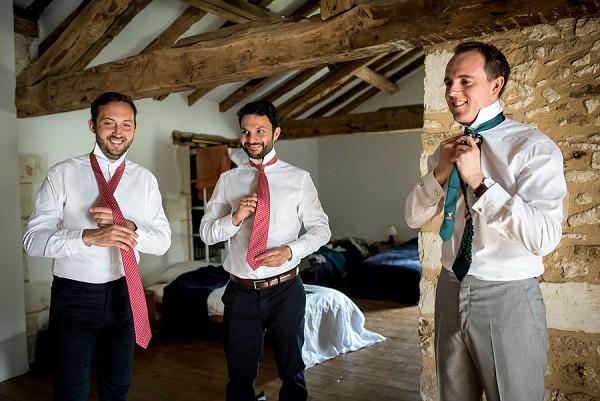 Groom prep french wedding