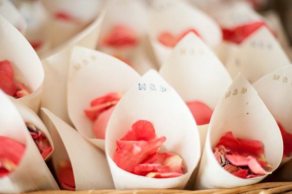 Homemade confetti cones