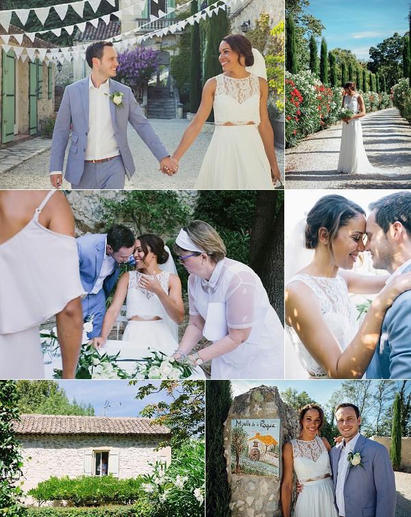 Moulin de la Roque Provence Real Wedding Snapshot