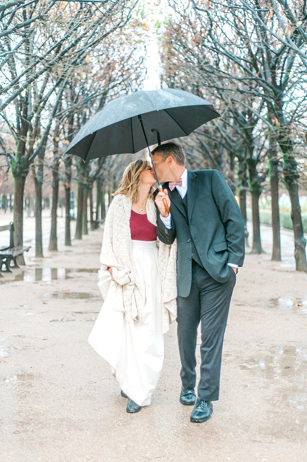 Rainy Paris Couple Shoot