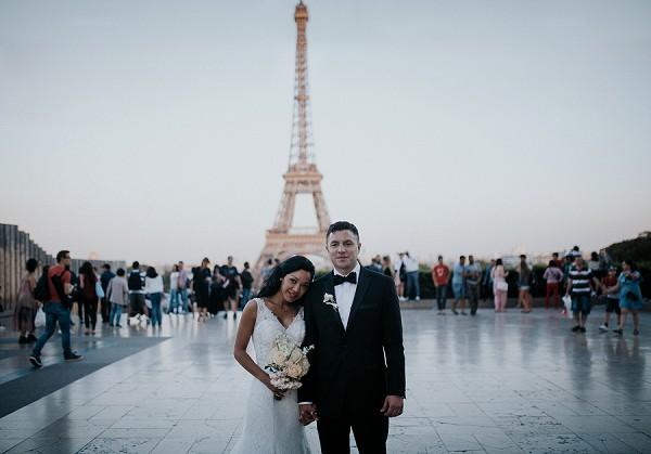Real Wedding Eiffel Tower