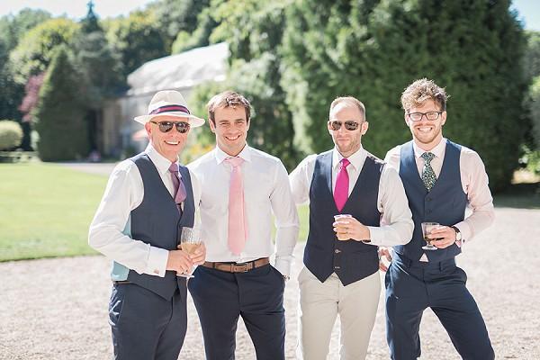 Relaxed groomsmen