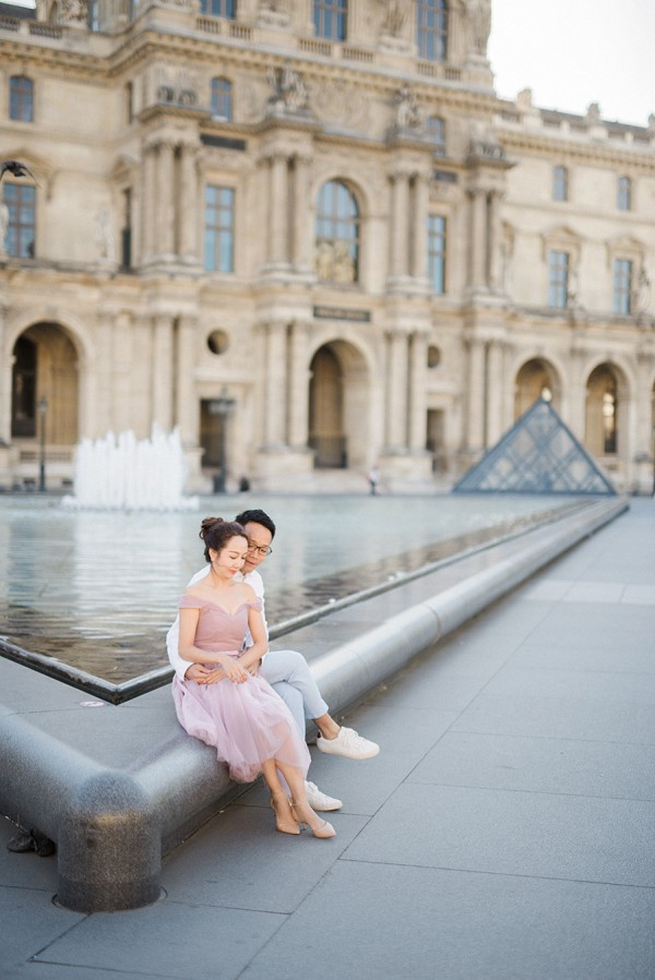 Romantic Love Story Engagement Shoot Paris