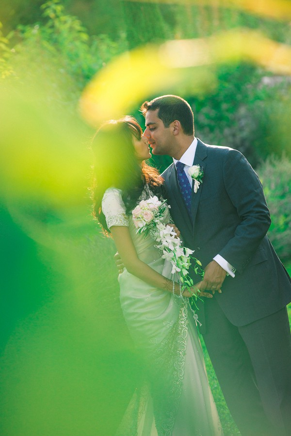 Romantic multicultural french wedding