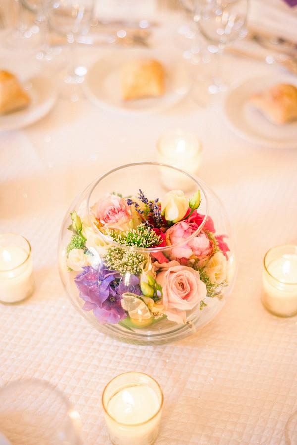 Simple floral wedding decor