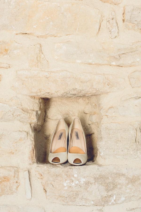 Simple wedding heels