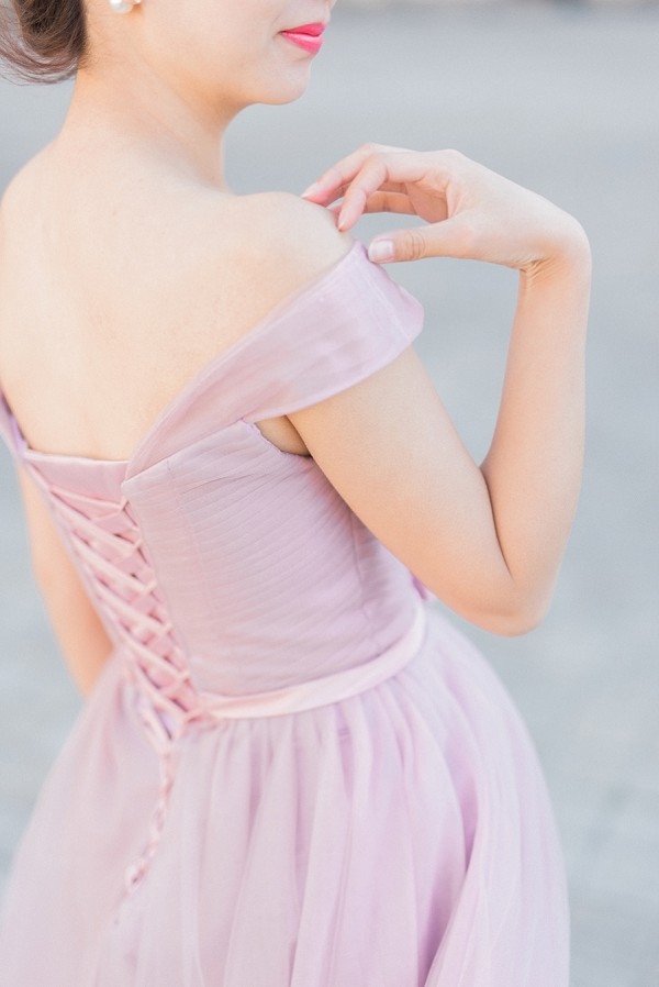 Soft pastel pink gown