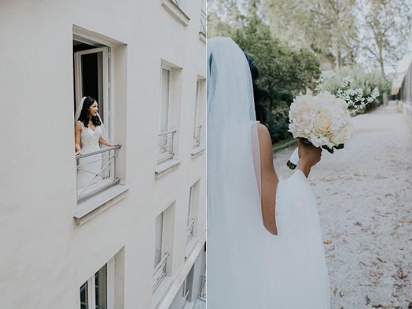 White Paris Wedding