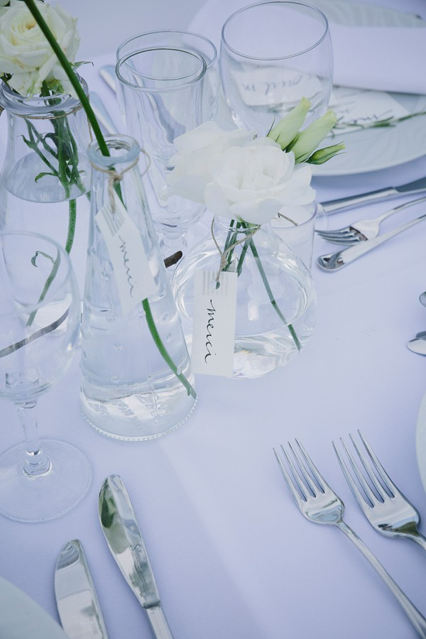 White wedding details