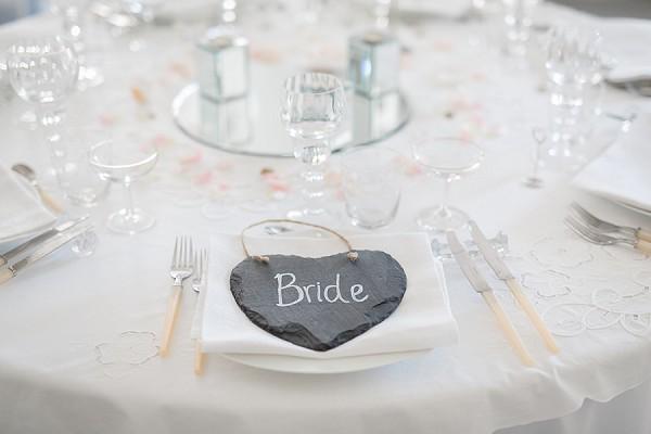 bride seating favors