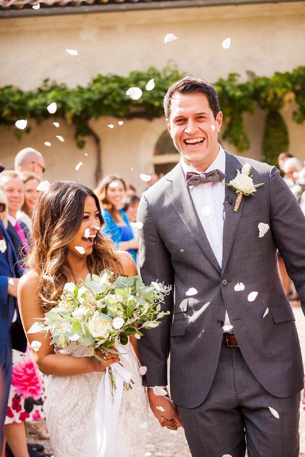 rose petal wedding confetti