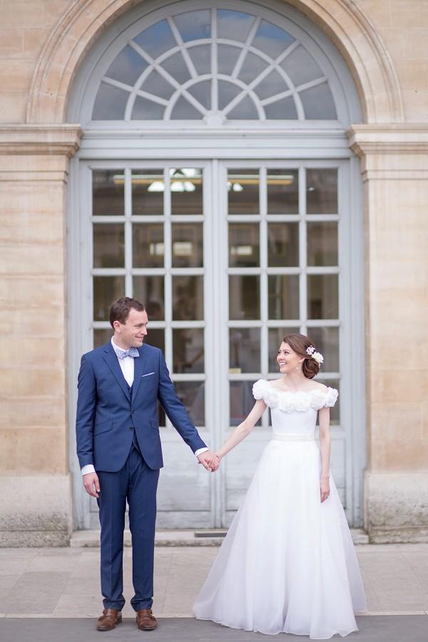 Bow Tie Paris Wedding