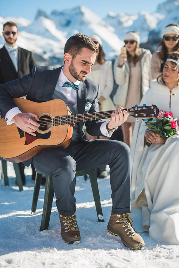 French Mountains Wedding Ceremony