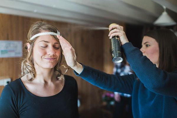 French alps getting ready wedding