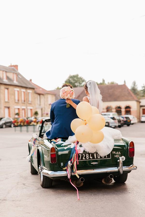 French vintage wedding car