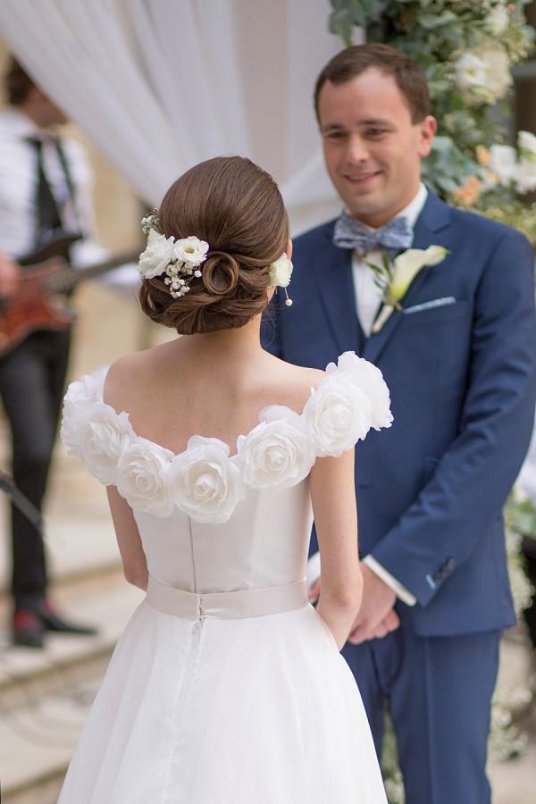Fresh Florals Wedding hair