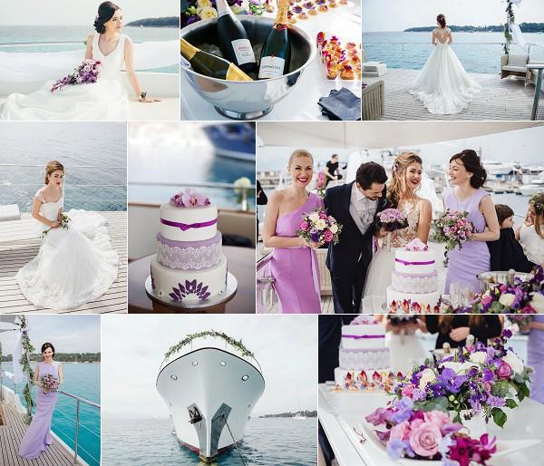 Luxury Cannes Yacht Wedding Inspiration Shoot Snapshot