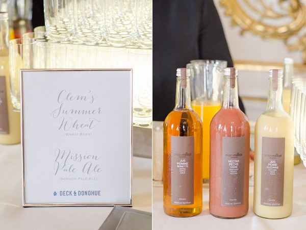 Personalised wedding cocktails