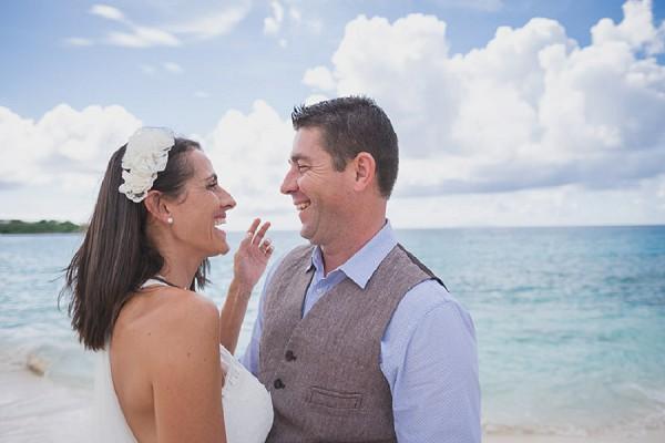 Relaxed beach wedding shoot
